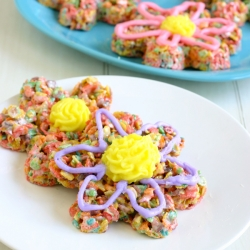 Springtime Flower Fruity Pebble Treats