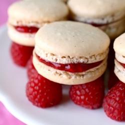 Vanilla Bean Raspberry Macarons