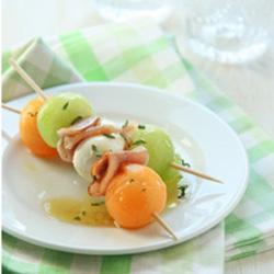 Melon & Prosciutto Skewers