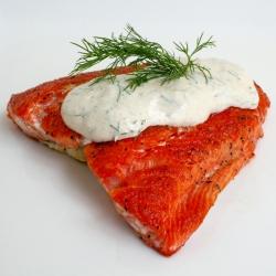 Salmon w/ Dill Dijon Sauce