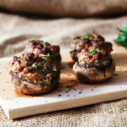 Food Gawker - Stuffed Mushrooms