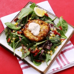Roasted Corn Crab Cakes with Chili