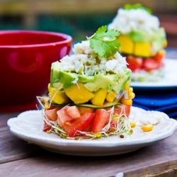 Avocado, Mango & Crab Stacks
