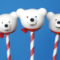 Polar Bear Cake Pops