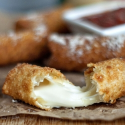 Wonton Wrapped Mozzarella Sticks
