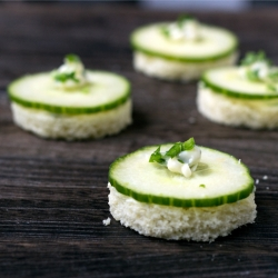 Cucumber & Chive Butter Savories