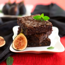 Fudgy Fig-Mint Brownies