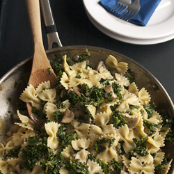 Farfalle with Kale and Mushrooms