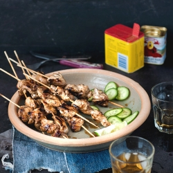 Maple Lime Chicken Skewers