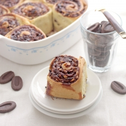 Chocolate Pecan Cinnamon Rolls