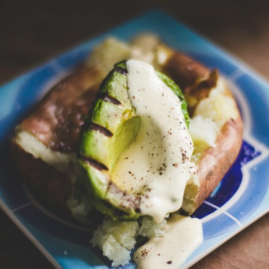 Potato, Avocado and Mustard Cream