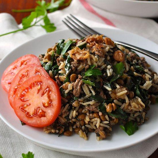 Middle Eastern Lamb & Lentil Rice