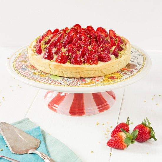 Strawberry Tart Pastry Cream Tart With Pastry Cream