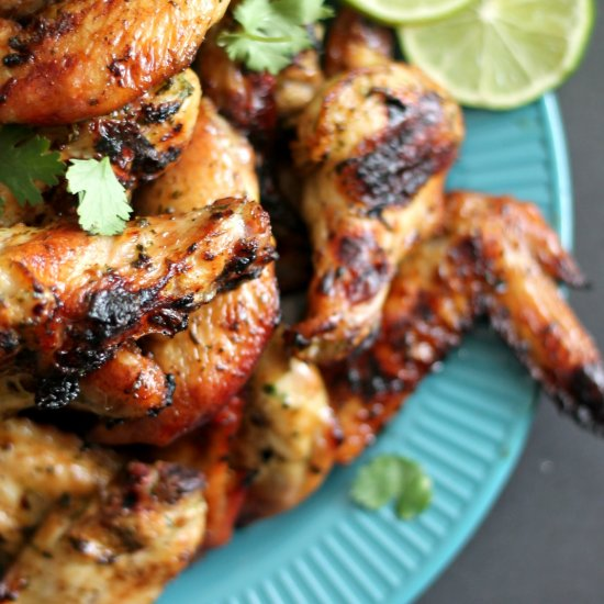 Grilled Maple-Mustard Chicken Wings Recipe — Dishmaps