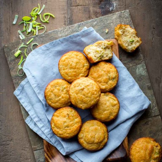 These Leek and Parmesan Muffins are a perfect make-ahead kid-friendly ...