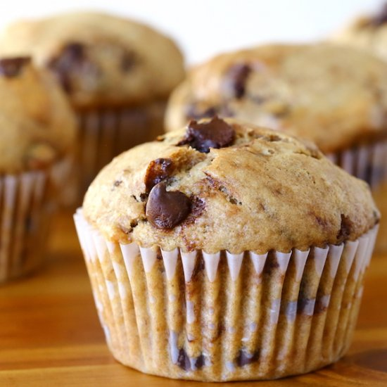 ... muffins, featuring walnuts and chocolate chips, with a hint of coffee