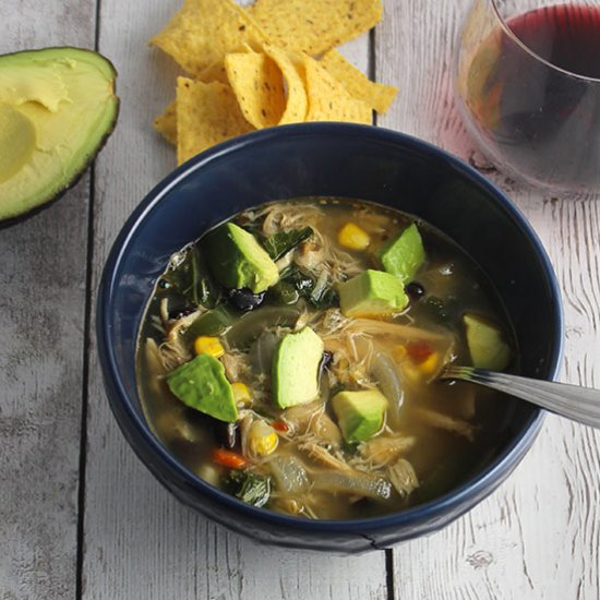 with chipotle peppers and black beans for a flavorful, healthy soup ...