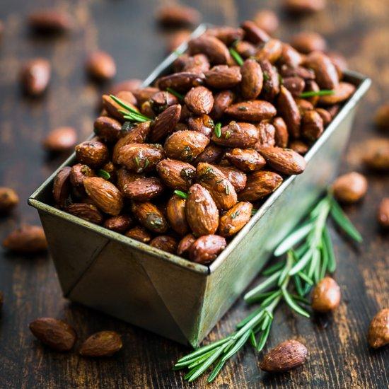 Rosemary Sea Salt Roasted Almonds