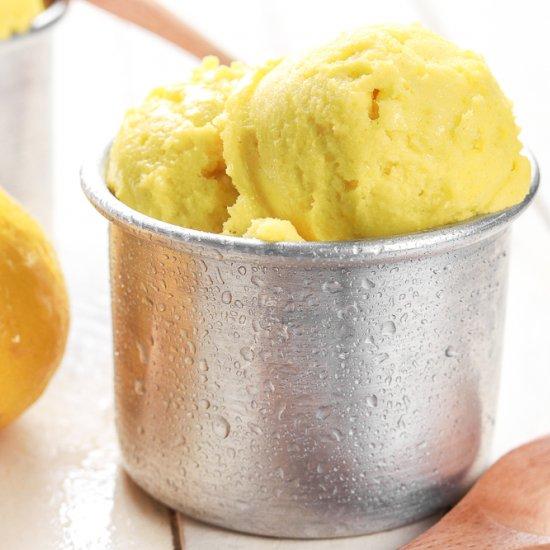 Lemon Turmeric Sorbet