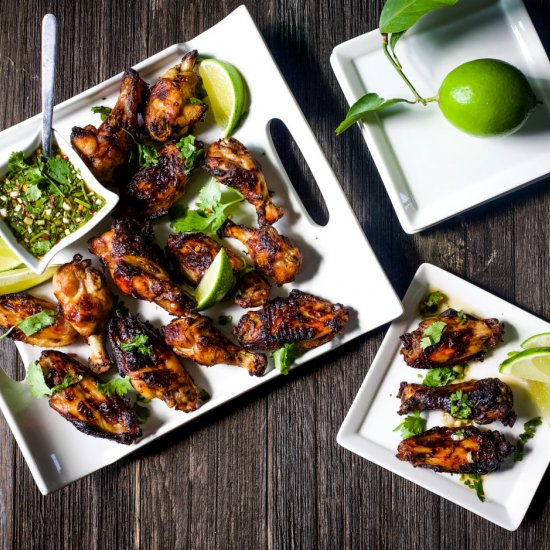 Sticky Baked Chicken Wings