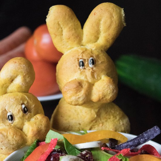 Vegan Carrot Bread Bunnies