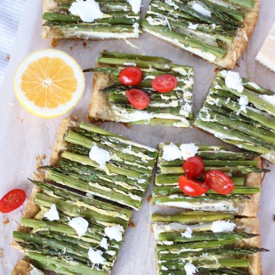 Vegan Asparagus and Chive Tart