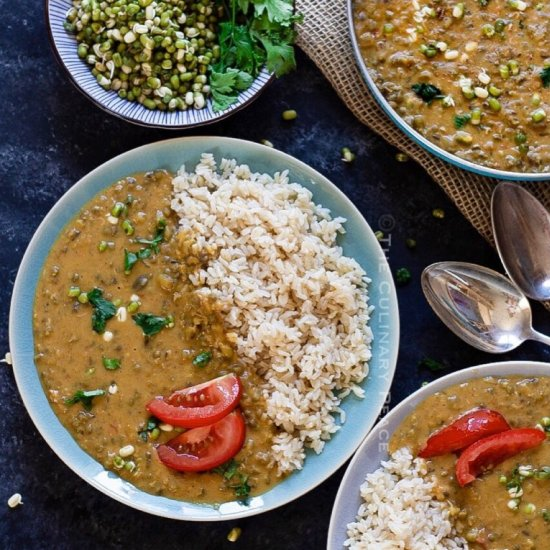 Vegan Green Gram Coconut Milk Curry