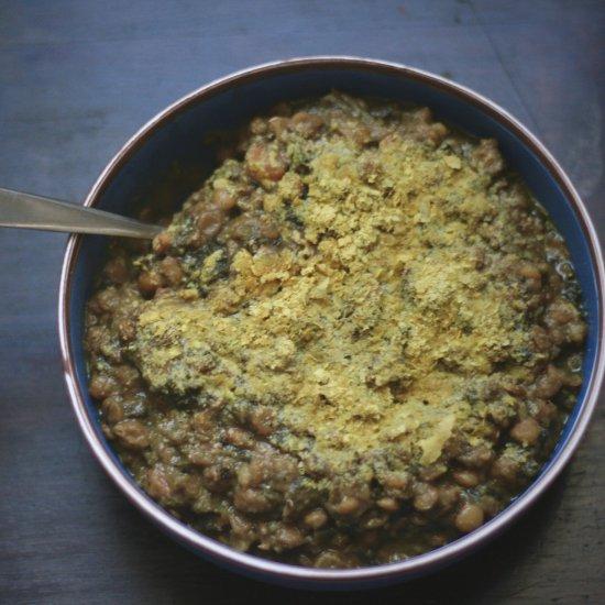 Pressure Cooker Lentil Spinach Soup