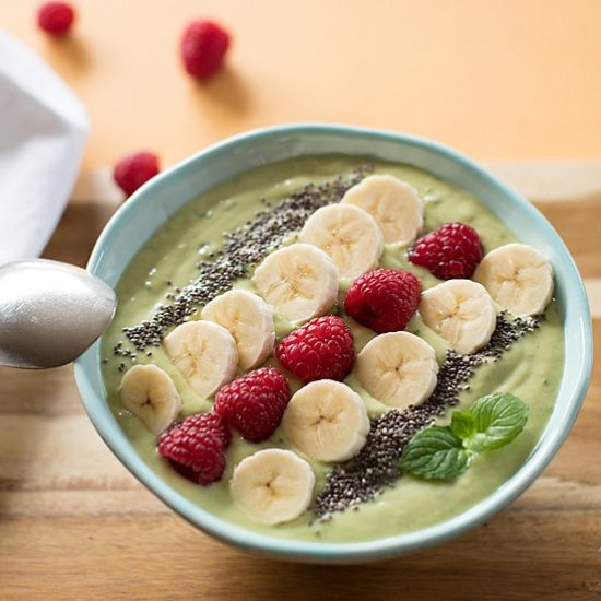 Avocado and Kale Smoothie Bowl