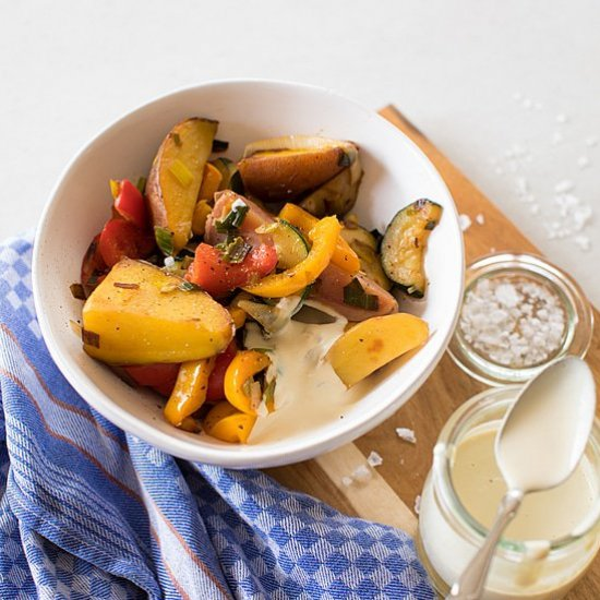 Pan Roasted Potatoes and Vegetables