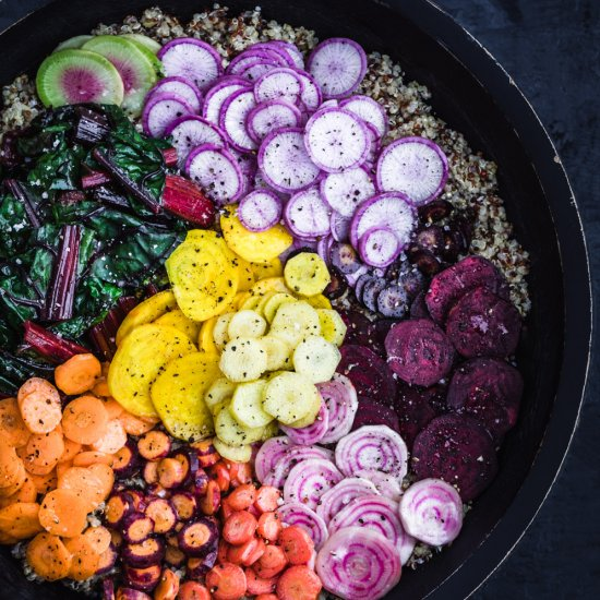 Veggie Rainbow Quinoa Bowl
