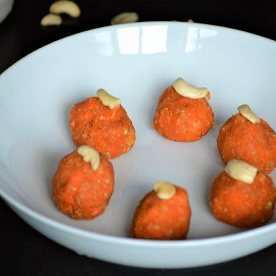 4 ingredient Cashew Carrot Balls