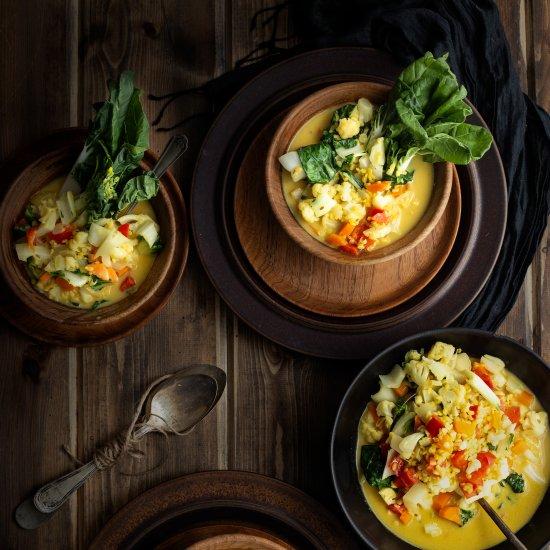 Vegan Dahl Curry Soup