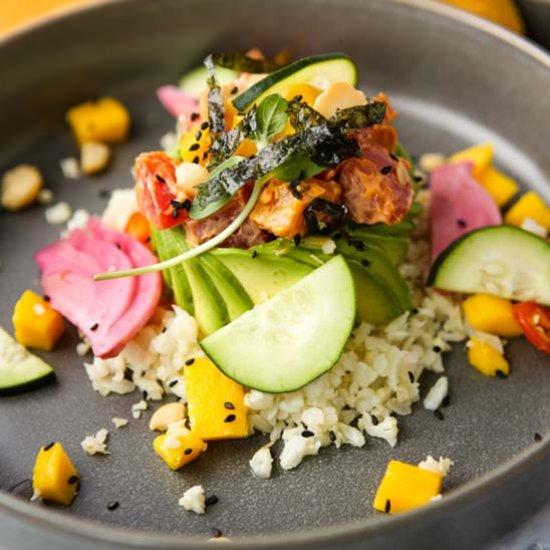 Vegan Poke Bowl with Chili Aioli