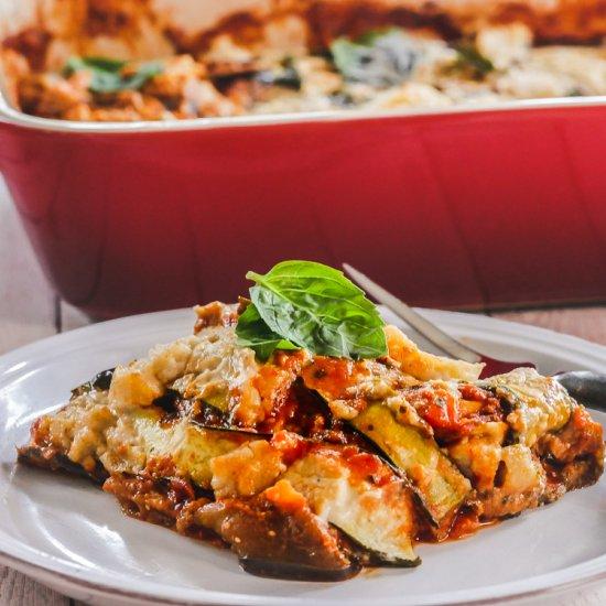 Vegan Eggplant Zucchini Lasagna