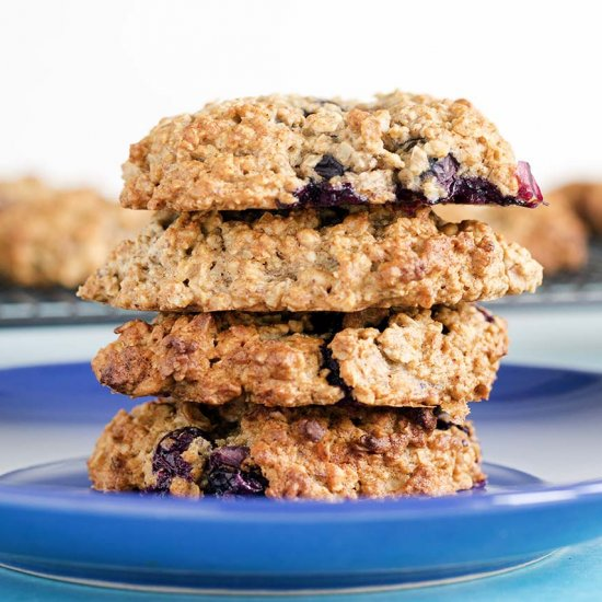 Peanut butter blueberry cookies