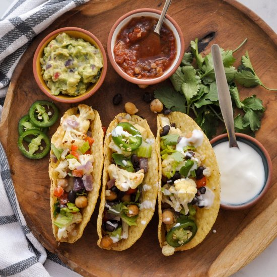 Cauliflower Chickpea Taco