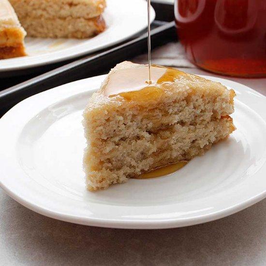 Maple Lemon Sourdough Cake