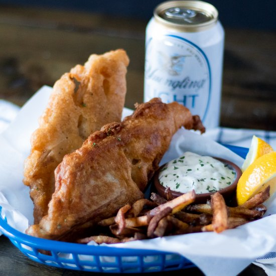 Beer Battered Vegan Fried Fish