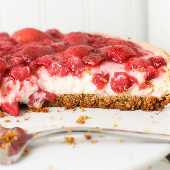 Strawberry Vegan Cheesecake