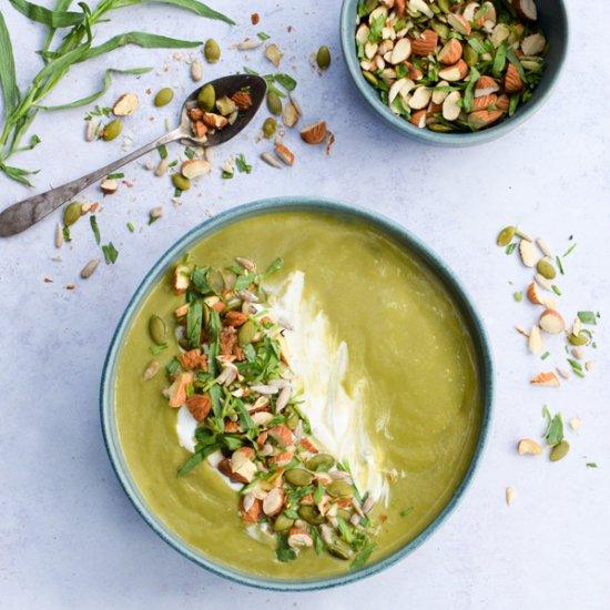 Fennel & Asparagus Soup [vegan]