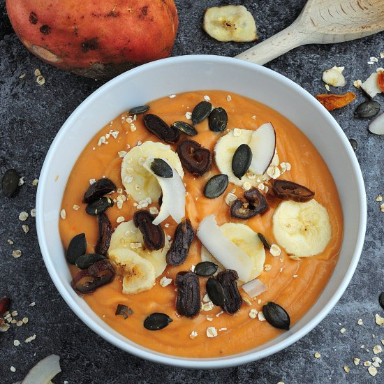 Sweet potato-banana smoothie bowl