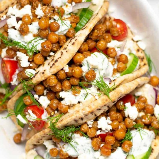 Easy Chickpea Gyros