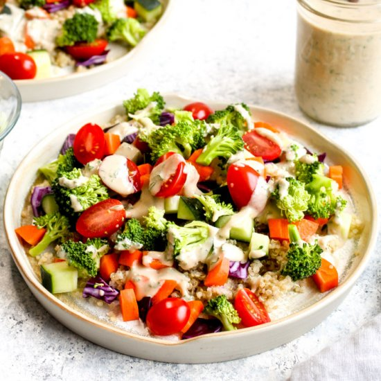 Quinoa Veggie Bowls with Ranch