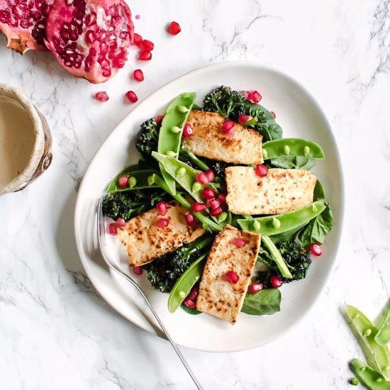 Vegan Tofu 'Halloumi' Salad