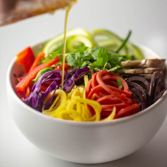 Ginger Miso Dressing Rainbow Salad