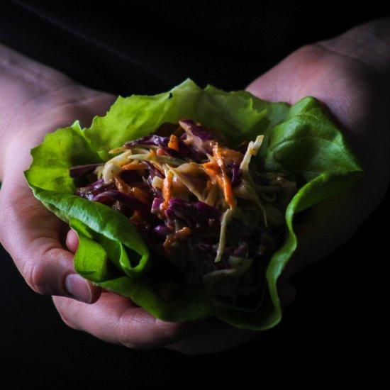 15 Min BBQ Jackfruit Lettuce Wraps