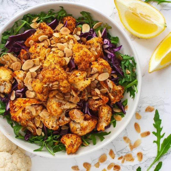 Roasted Cajun Cauliflower Salad