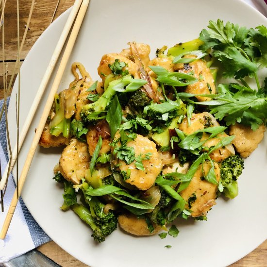 Indo-Chinese Crispy Chick'n