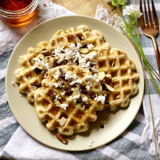 Rose Water Waffles (Vegan)